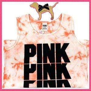 •Victoria's Secret PINK• Tie Dye Logo Tank top